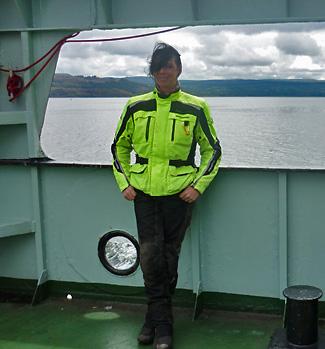 Svenja aboard Dunoon Ferry