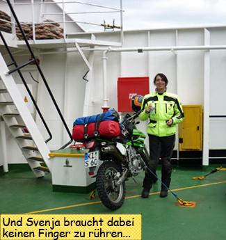 Mallaig Skye Ferry Svenja Motorrad
