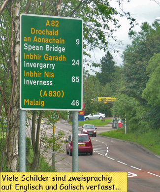Roadsign gaelic english
