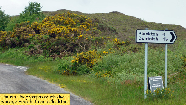 Road Sign Plockton