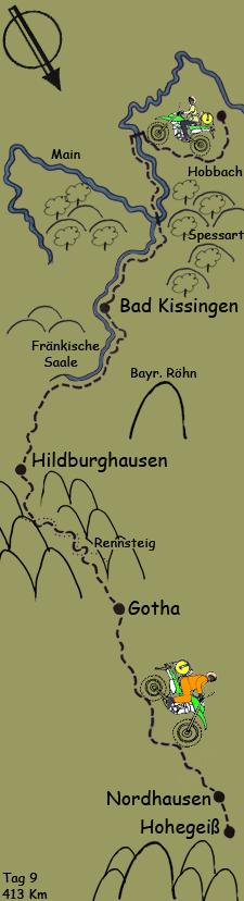 Tag 9 Vom Spessart in den Harz
