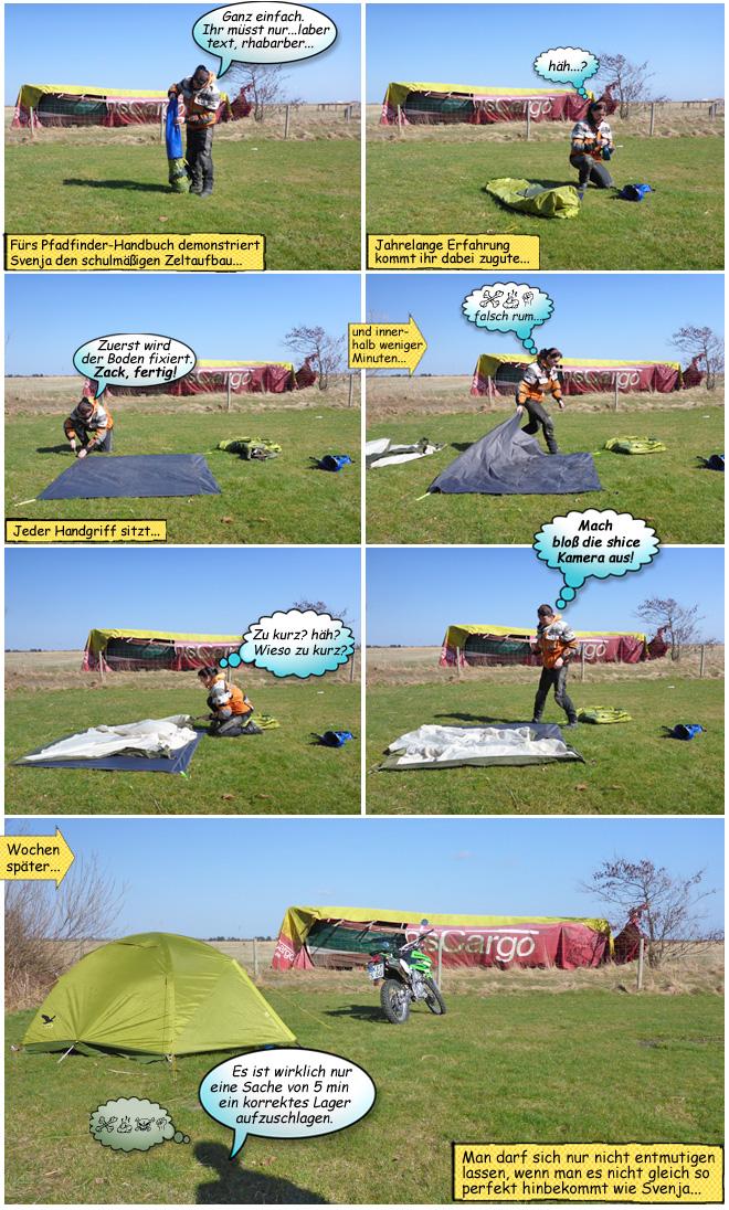 Anleitung Zeltaufbau