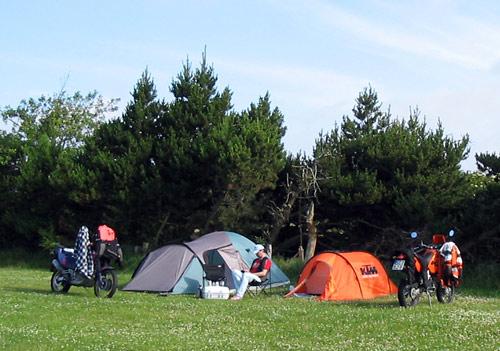 Abends auf dem Campingplatz