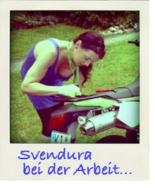Svendura schraubt an der KLX250