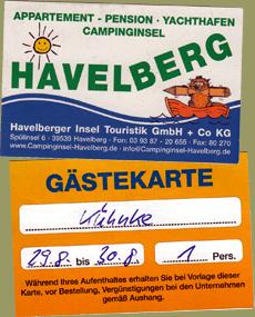 Camping Havelberg Spülinsel