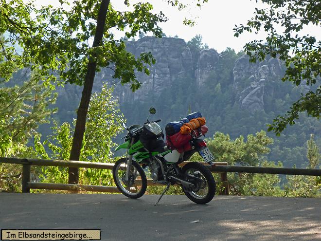 Elbsandsteingebirge Motorrad