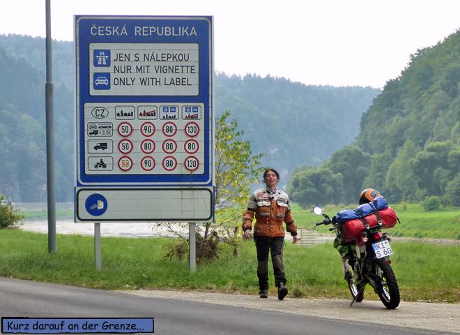 Grenze Tschechien Grenzübergang