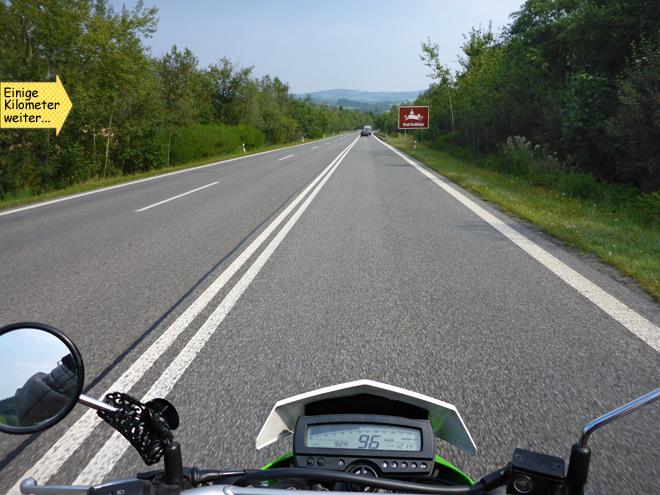 Motorrad Landstraße Tschechien