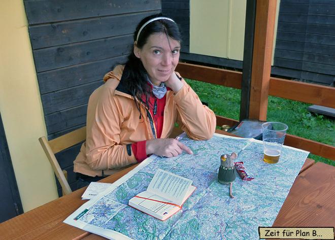 Reiseplanung mit Landkarte