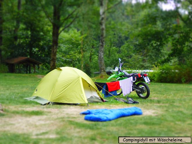 Zelt Motorrad Schlafsack