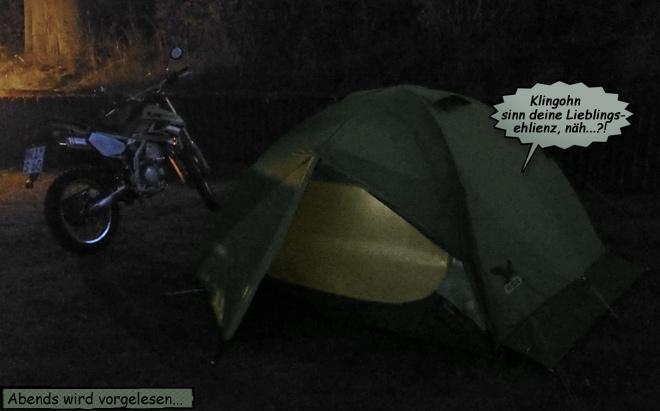 Zelt in der Nacht