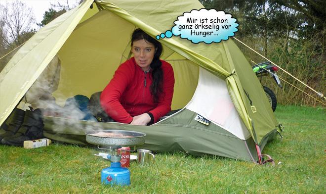 Kochen in der Zelt Apsis