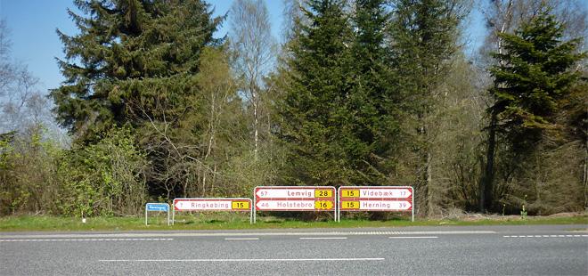 Straßenschilder Dänemark Ringkøbing