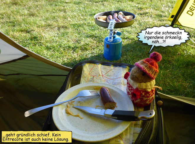 Gaskocher im Zelt