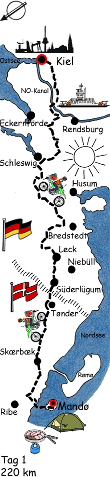 Rømø Inselkarte