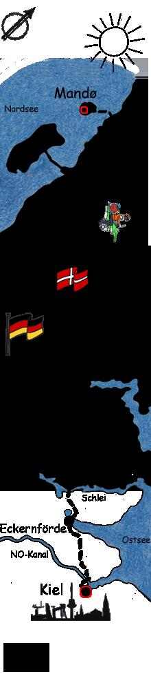 Route Ribe Kiel