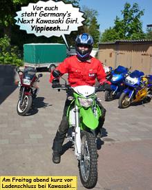 Svenja 2010 auf Kawasaki KLX250 bei Motorrad Weber in NeumŸnster