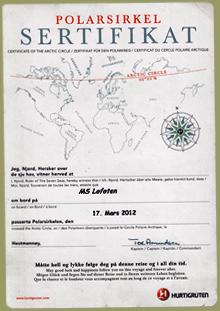 Polarkreis Urkunde