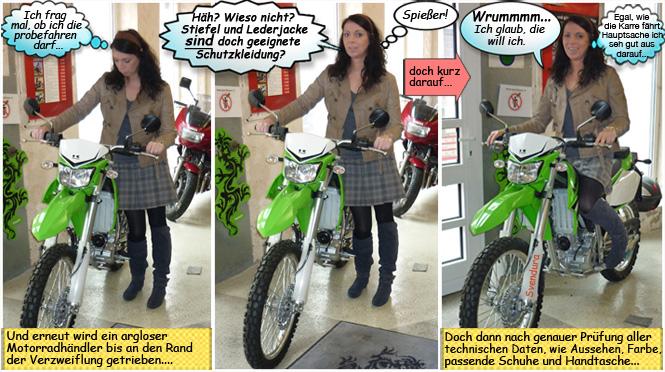 Svenjas und die neue Kawasaki KLX250