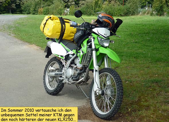 Kawasaki KLX250 zum Endurowandern