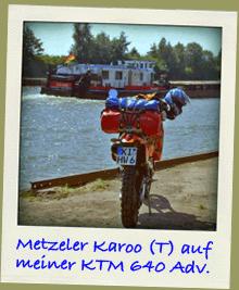 Metzeler Karoo T auf KTM Adventure