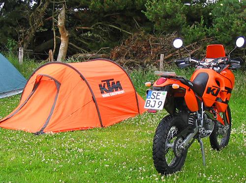 Das KTM Zelt