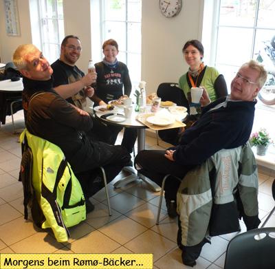 Frühstück beim Rømø Bäcker