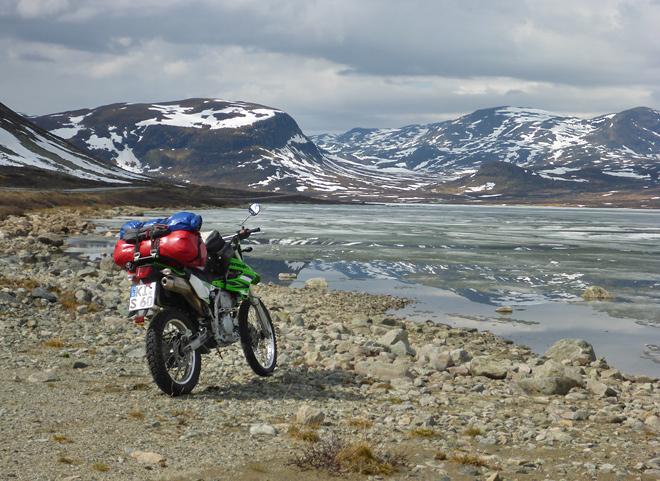 Hemsedal Fjell Zugefrorener See Enduro