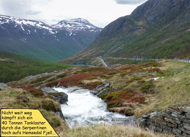 Auffahrt zum Hemsedal Fjell