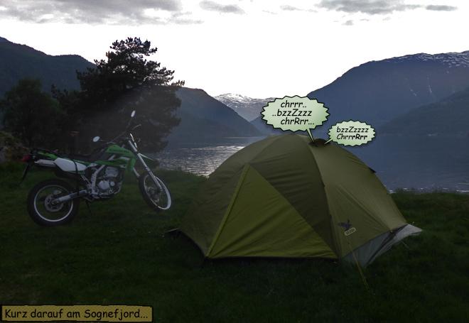 Im Zelt schlafen