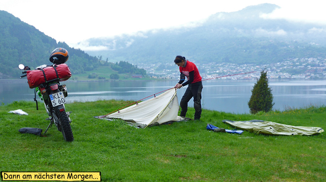 Zelt abbauen