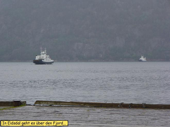 Eidsdal Fähre über den Fjord