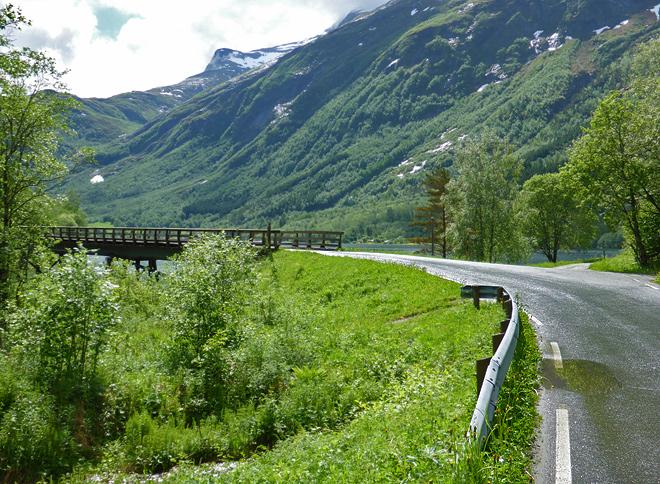 Norwegen Anfahrt Aursjøvegen