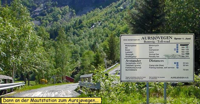 Beginn Maut Aursjøvegen Motorrad