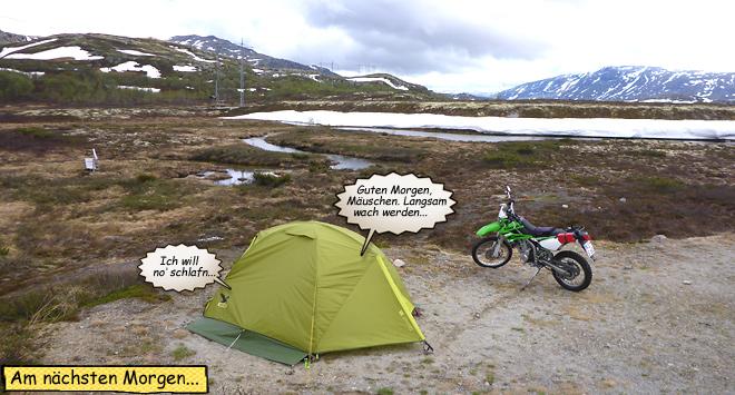 Wildcampen Motorrad Endurowandern Norwegen