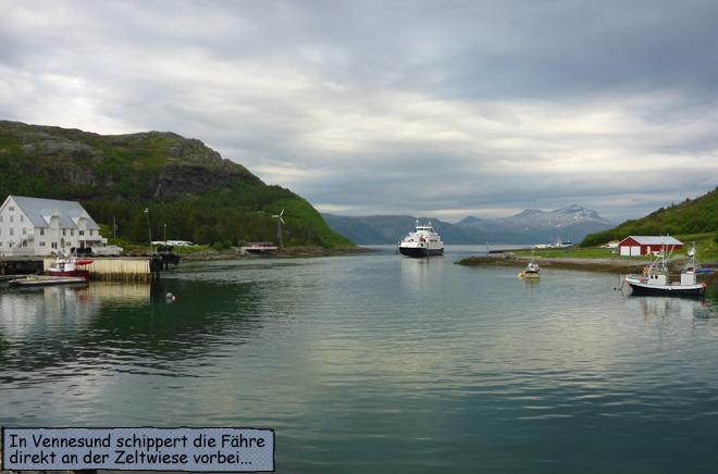 Vennesund Fähre Norwegen