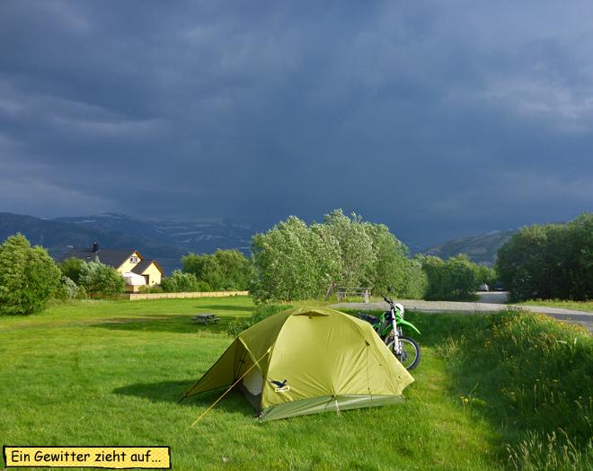 Gewitter im Zelt