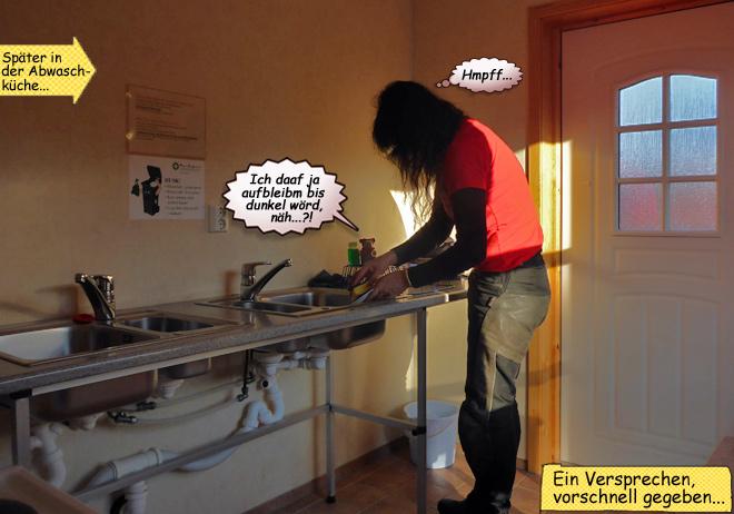 Abwaschen in der Camperküche
