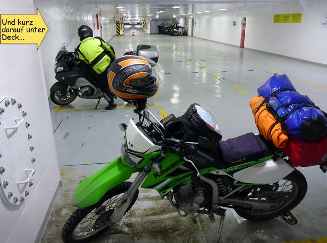 Motorrad Fähre Lofoten