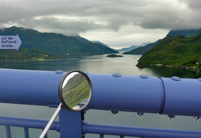 Blick von der Raftsund Brücke