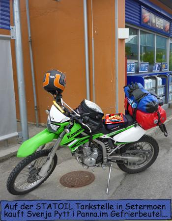 Statoil Tankstelle Motorrad