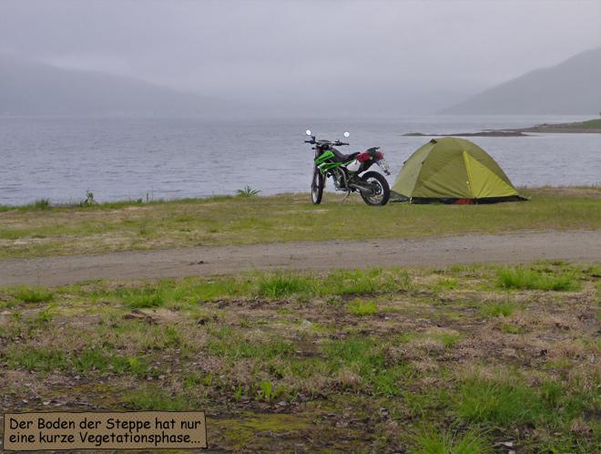 Zelten in der Tundra Norwegen