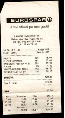 Eurospar Norwegen Preise