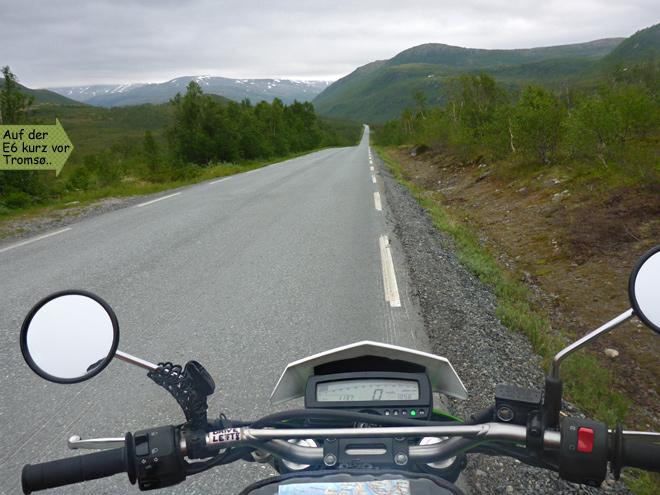 Einsamkeit Norwegen Straße