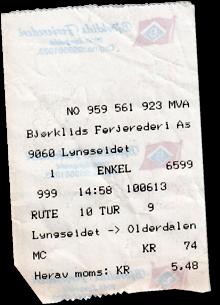 Fähre Olderdalen