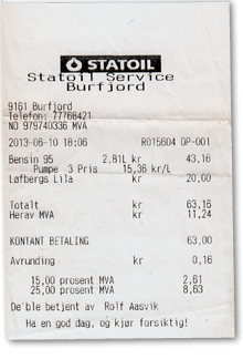 Statoil Tankstelle Burfjord