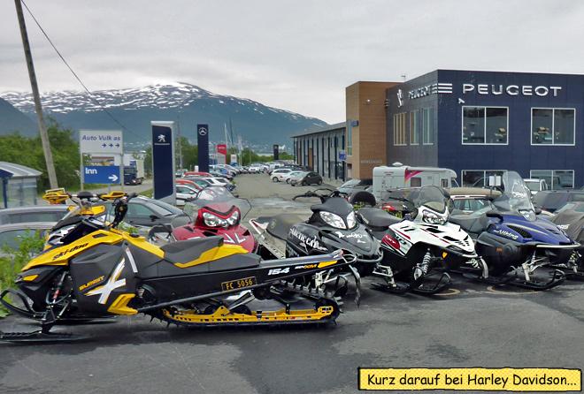 Snowscooter Tromsø Norwegen