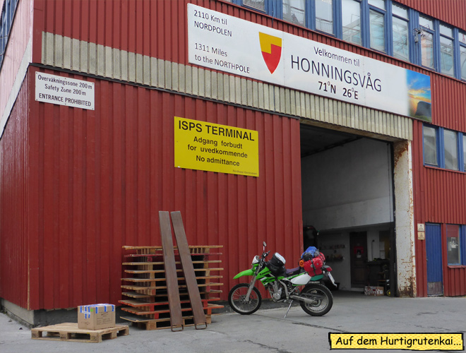 Honningsvåg Nordpol Schild