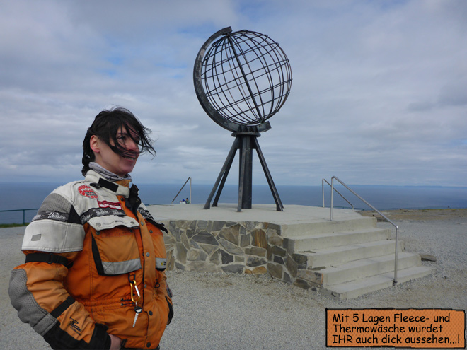 Nordkap Globus Kugel Svenja