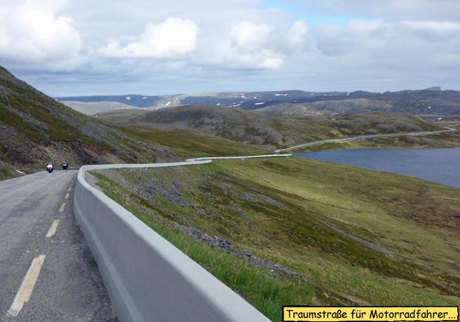 Strecke zum Nordkap